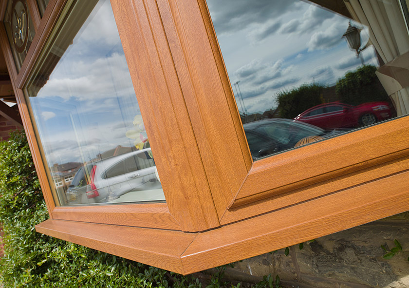 Timber Effect Bay Windows