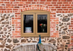 Timber-effect uPVC window