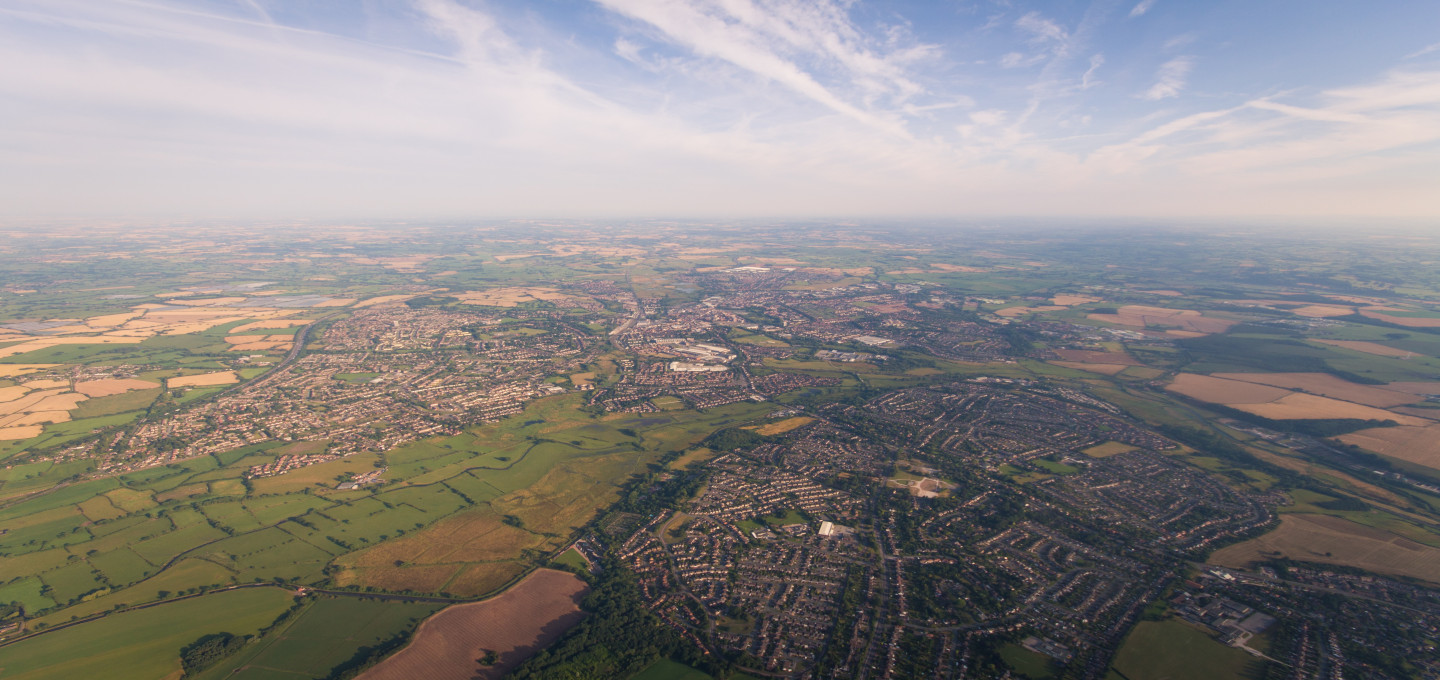 Aerial view of Staffordshire