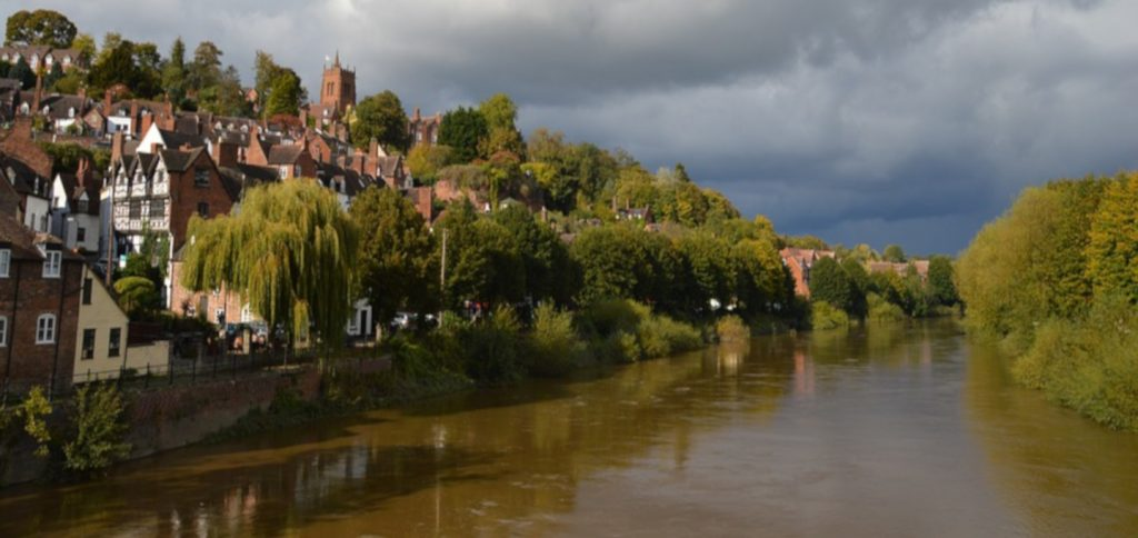 Bridgnorth Shropshire river view