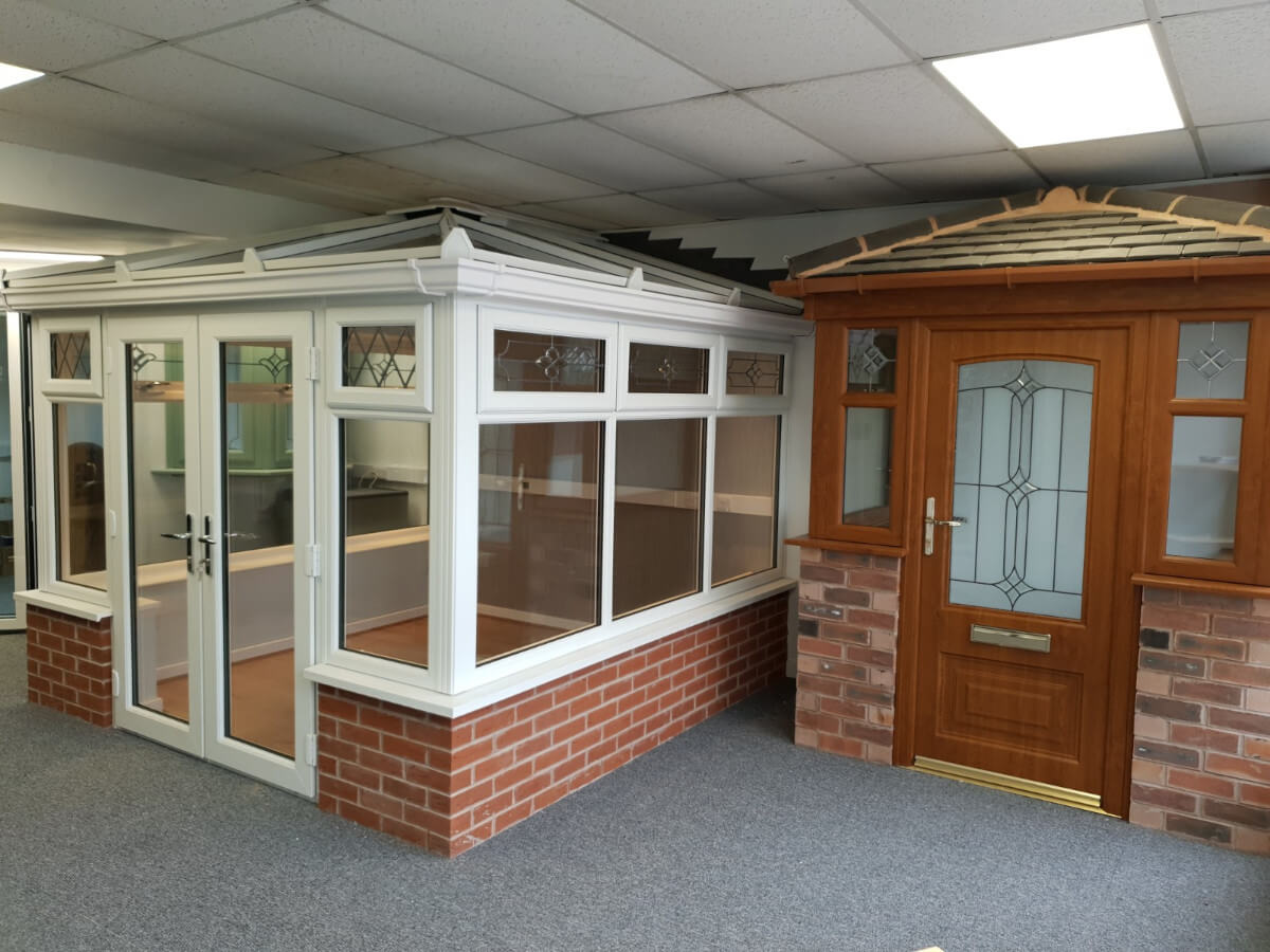 DW Windows Stafford Road Showroom - conservatory and door